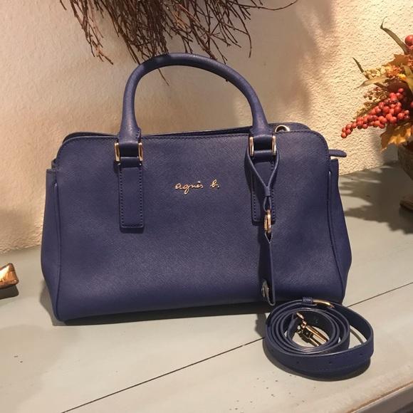 bca720b51e3 Agnes B. Bags | Agnes B Navy Blue Leather Hangbag Got It In Hk ...